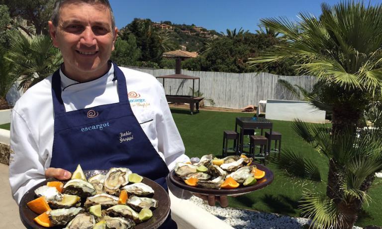 Fabio Groppi, chef del ristorante Escargot a Costa Rei in Sardegna, provincia di Cagliari