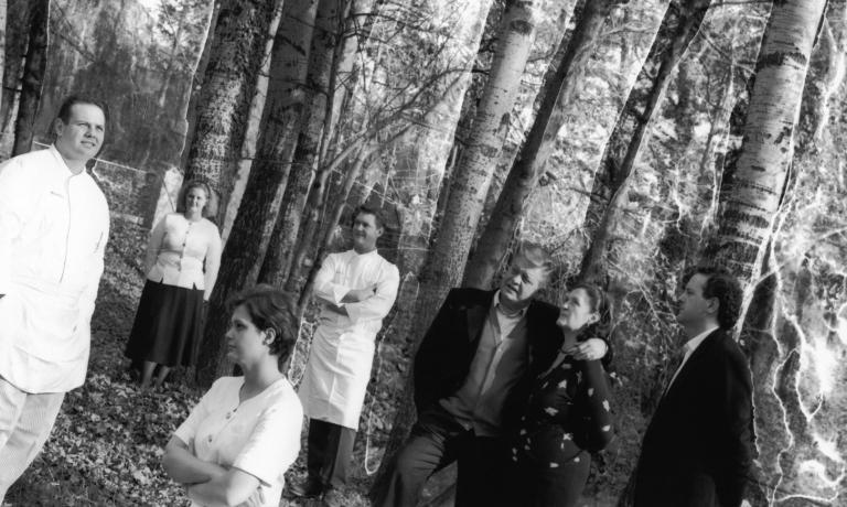 Una foto storica di tutta la famiglia Cerea riunit