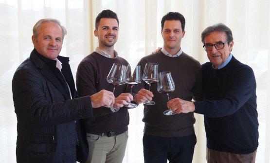 Diego, Mattia e Michele Cottini insieme a Riccardo