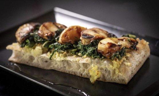 Una delle pizze di Farabegoli
