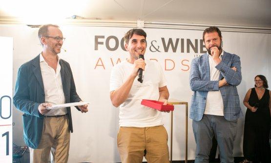 Federico De Cesare Viola, direttore di Food&Wine Italia, Antonio Ziantoni, Best Chef under 35, e Marco Bolasco, direttore area non fiction di Giunti