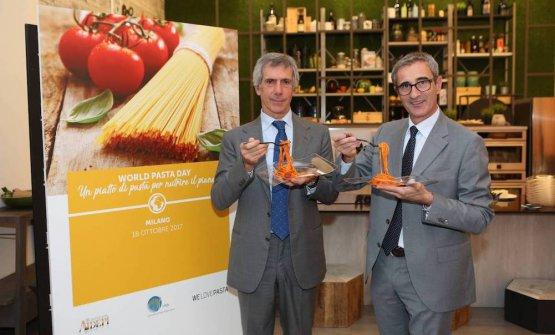 Paolo Barilla e Riccardo Felicetti Sono rispettivamente il neo-presidente e il presidente uscente di Ipo, International Pasta Organisation