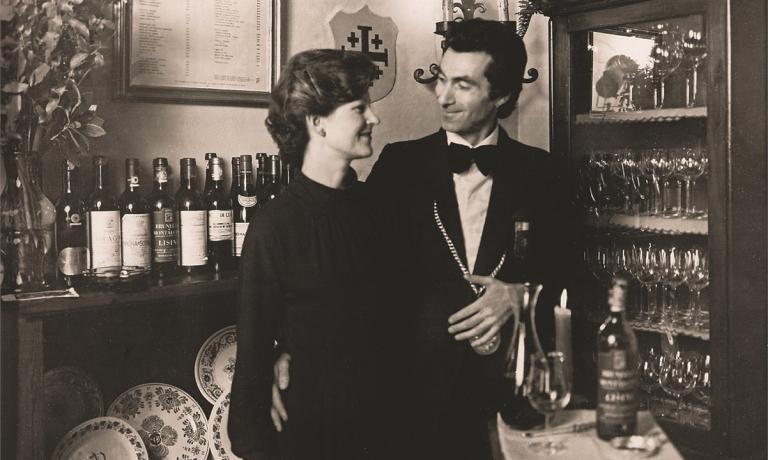 Annie Féolde e il modenese Giorgio Pinchiorri in una foto d'antan. Si conoscono dal 1969