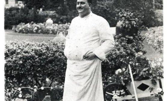 Fernand Point, leggendario chef della Pyramide a Vienne. I genitori di Maurizio Campiverdi portarono loro figlio lì a pranzo nel 1953 all'età di 12 anni appena