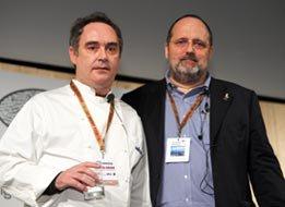 Adrià con Paolo Marchi nel 2006