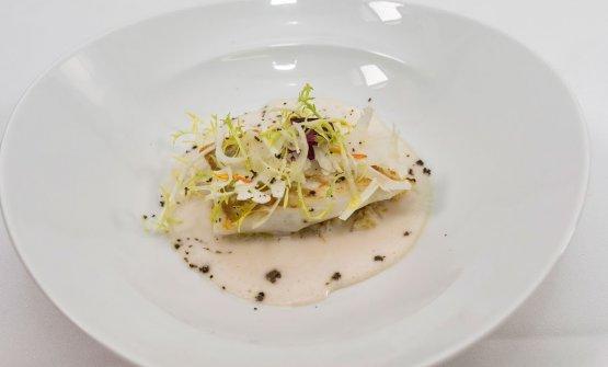 Il piatto di Alciati,Rombo, cavolfiori e latte affumicato