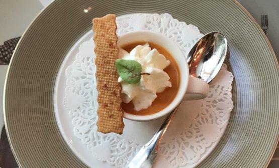 Amuse bouche with mozzarella and tomato
