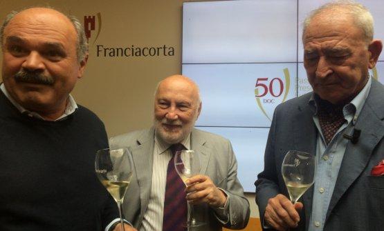 Oscar Farinetti, Domenico De Masi, Vittorio Moretti