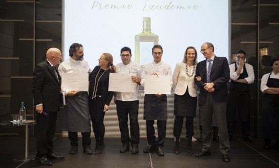 Salvatore Bianco, al centro, con Marco Stabile e Giuseppe Di Iorio al momento della premiazione (tutte le foto sono di Francesco Mion)