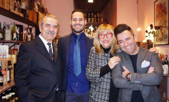Fiorenzo Detti, la moglie Anna e i figli Diego e Daniele