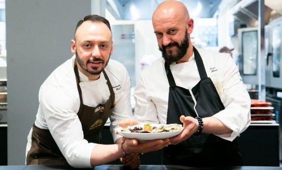 Florio con il resident chef di Identità Golose Milano, Alessandro Rinaldi