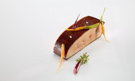 Foie gras, carote e makil goxo