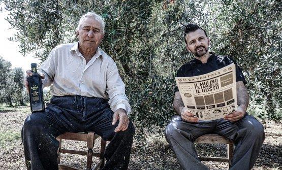 Antonio Polzella con suo padre Giovanni nell'o