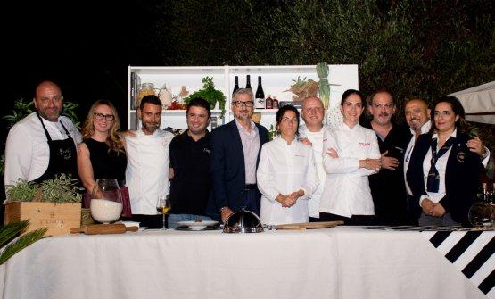 I protagonisti dellaquarta edizione diChicchi, riso e uva di Sicilia, dove cinque chef hanno proposto proprie personali interpretazioni dell'arancino. Le foto della serata sono diBrunella Bonaccorsi