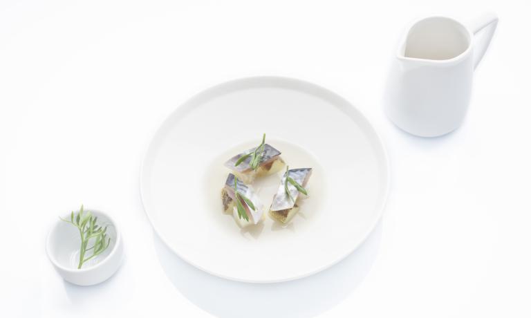 Sgombro, mozzarella e cetriolo, piatto fresco e da
