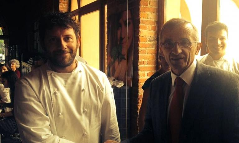 Cesare Battisti e Michel Bras a Pollenzo martedì