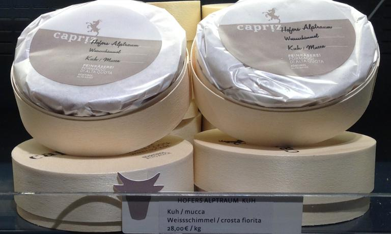 One of the products on sale at Capriz, a concept store dedicated to goat cheese