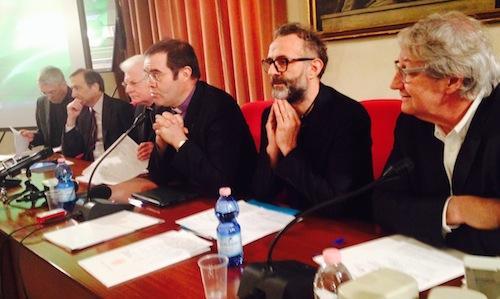 Da destra, Davide Rampello e Massimo Bottura, ques