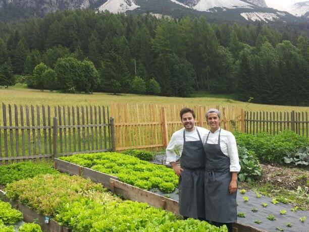 The vegetable garden behind the hotel is a precious source of raw materials for Oliver's dishes