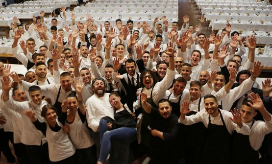 Gli chef Cristiano Tomei e Alessandro Borghese con