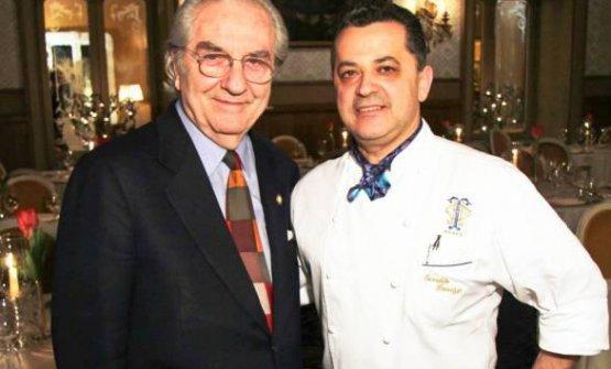 Gualtiero Marchesi e Osvaldo Presazzi