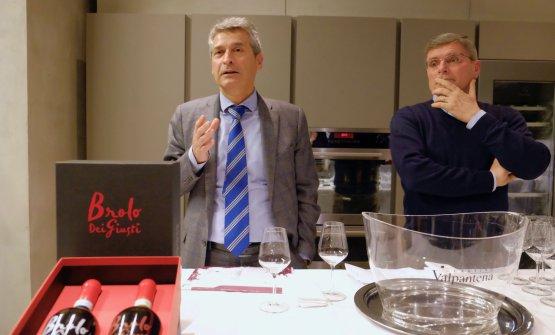 Luigi Turco, presidente della Cantina Valpantena, con il direttore Luca Degani