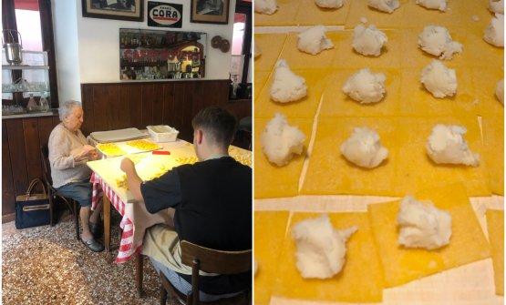 La preparazione dei tortellini