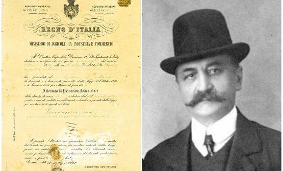 Domenico Melegattie il brevetto del suo pandoro