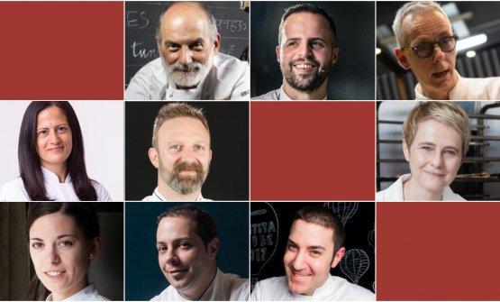 The nine speakers ofPasticceria italiana contemp