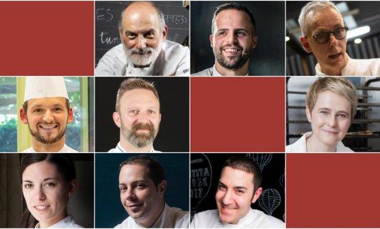 I nove relatori di Pasticceria italiana contempora