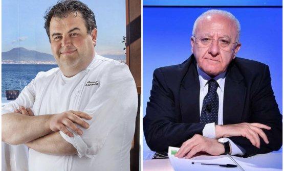 Lo chef Gennaro Esposito e il governatore campano