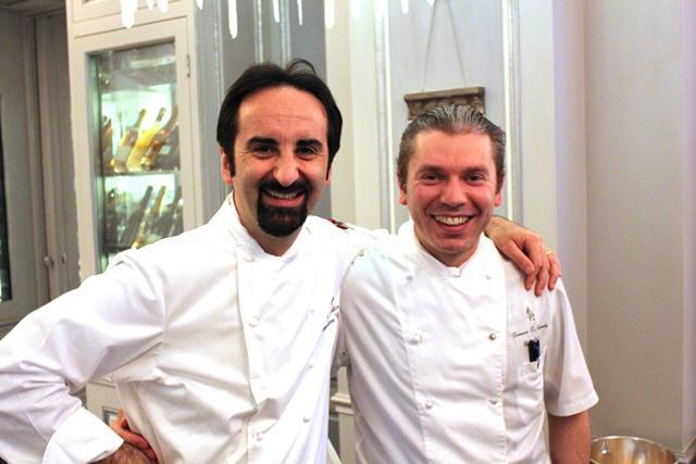 Vito Mollica, a sinistra, con Domenico Di Clemente