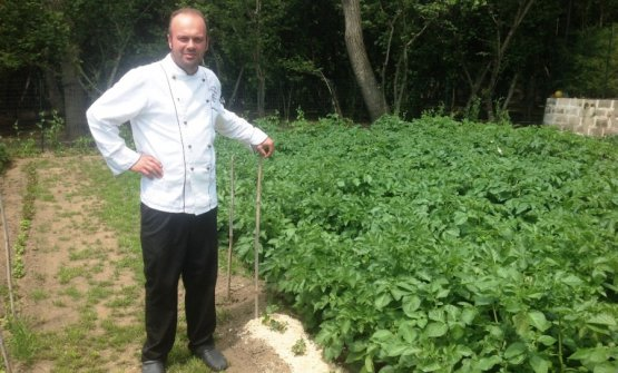 Francesco, in the vegetable garden supplying his r