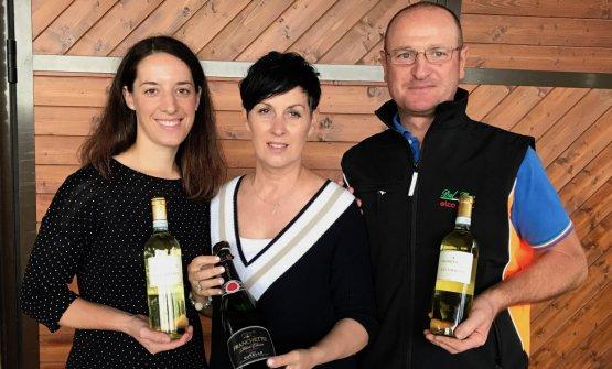 Giulia Franchetto assieme a mamma e papà Antonio