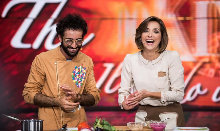 Lo chef e pasticcere Franco Alibertiè stato più volte ospite di Lisa Casali nella trasmissione che conduce ogni giorno live a Expo Milano 2015, e in onda su RAI3 fino al 5 settembre dal lunedì al venerdì alle 12.30 (Crediti: The CooKing Show, immagini di Abraham Caprani)