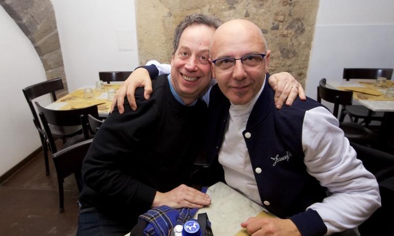 Daniel Young con Franco Pepe. Il primo ha dovuto a