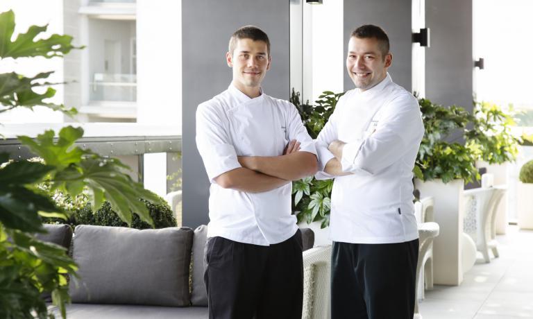 Vincenzo e Antonio Lebano, resident chef del Terrazza Gallia