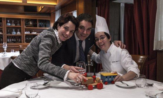 I fratelli Moro: Elisa la sommelier, Aldo ilmaître e Silvia la chef