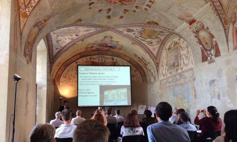 La sala del castello dove si è tenuto il workshop