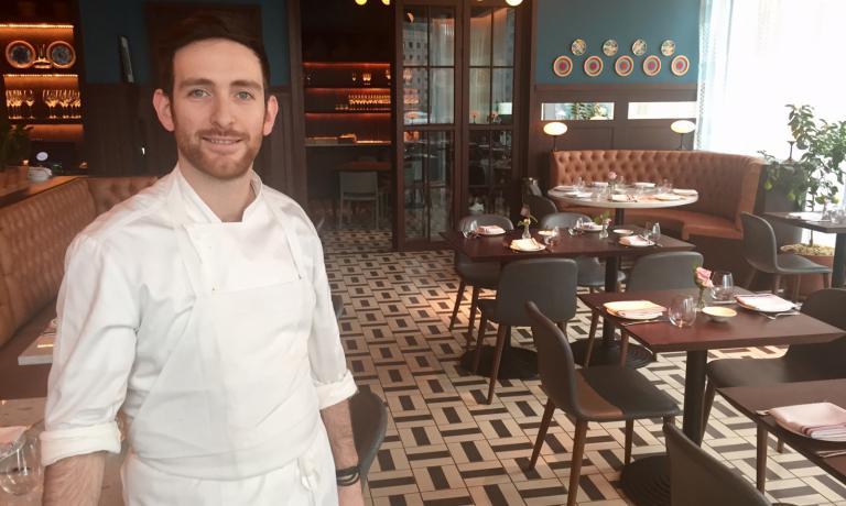 Riccardo Orfino, chef dell'Osteria della Pace, il ristorante più ambizioso di Eataly Dowtown