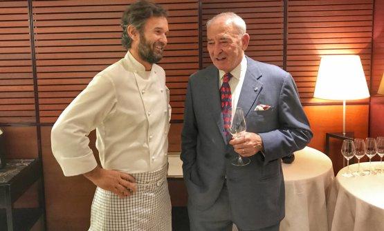 Carlo Cracco e Vittorio Moretti, fondatore di Bellavista