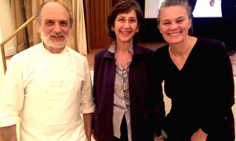 Con Virginia Piombo, direttore dell'Istituto Italiano di Cultura di Stoccolma e Johanna Ekmark, fondatrice di Caffè Italia