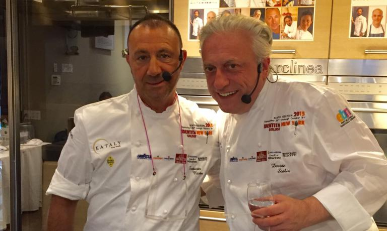 Fortunato Nicotra of Felidia and Davide Scabin of
