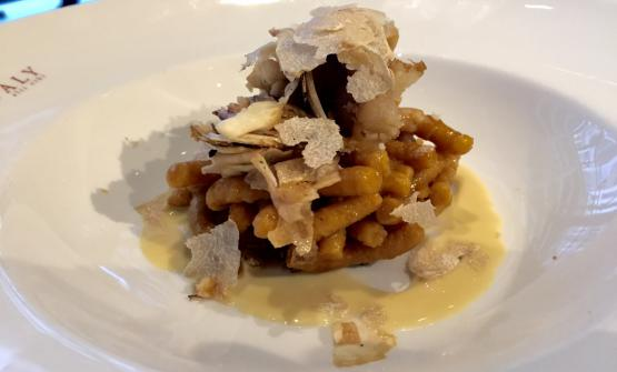 "Autumn in New York, Passatelli risotto-style in a ""broth of everything"" by Massimo Bottura"