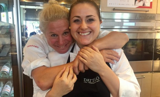 Ana Roš with Caterina Ceraudo recently at Identità New York (see also Ana Roš and Caterina Ceraudo: frontier-chefs)