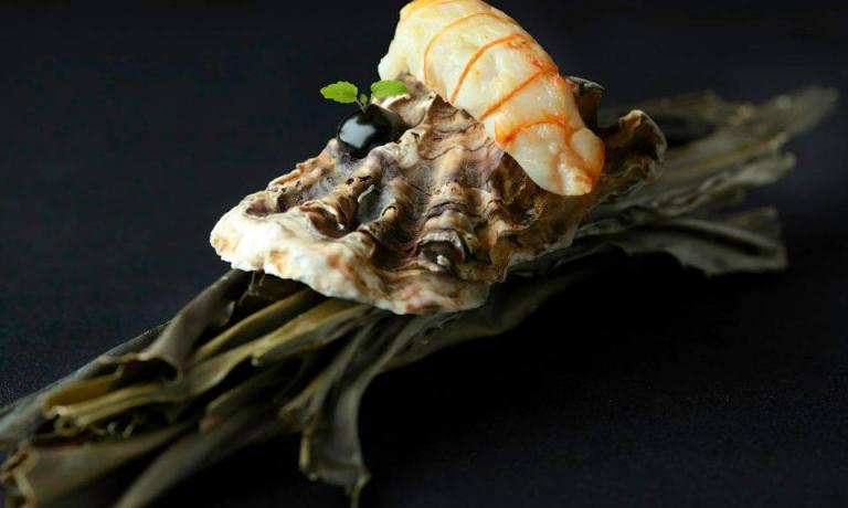 Langoustine on a shell: one of the dishes included in the three menus at Funky Gourmet