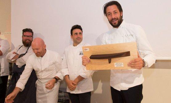 Il premio del pubblico a Luigi Taglienti