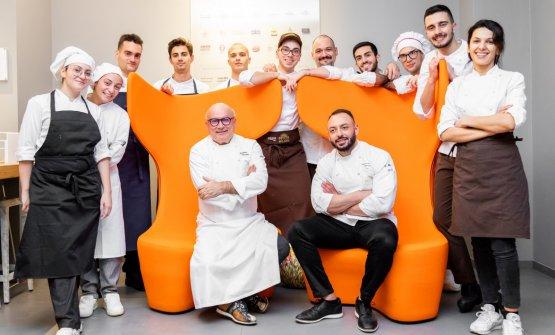 Con la brigata di cucina di Identità Golose Milano