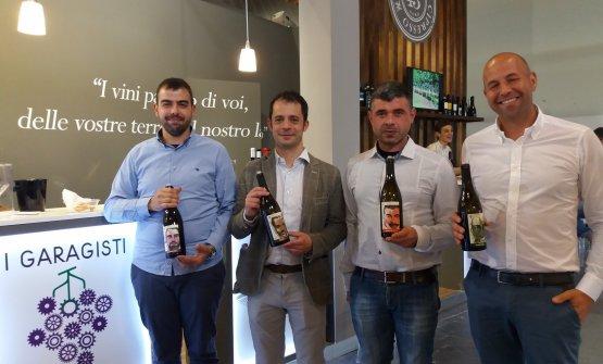 I Garagisti di Sorgono mostrano i loro vini allo stand del Vinitaly