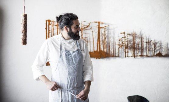 Riccardo Gaspari, chef e patron con la moglie Ludo